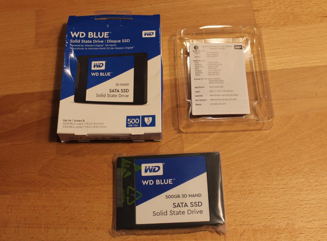 WD BLUE 3D NAND 500GB SSD Drive