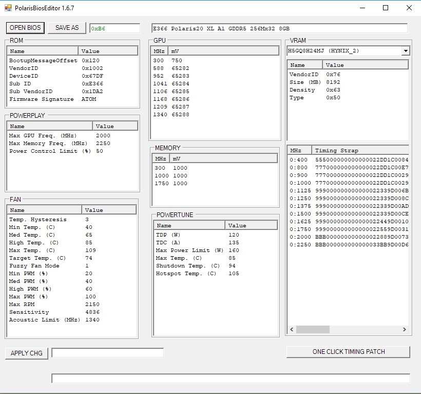 Sapphire Nitro+ RX570 hashrate optimization for LOKI and SUMOKOIN