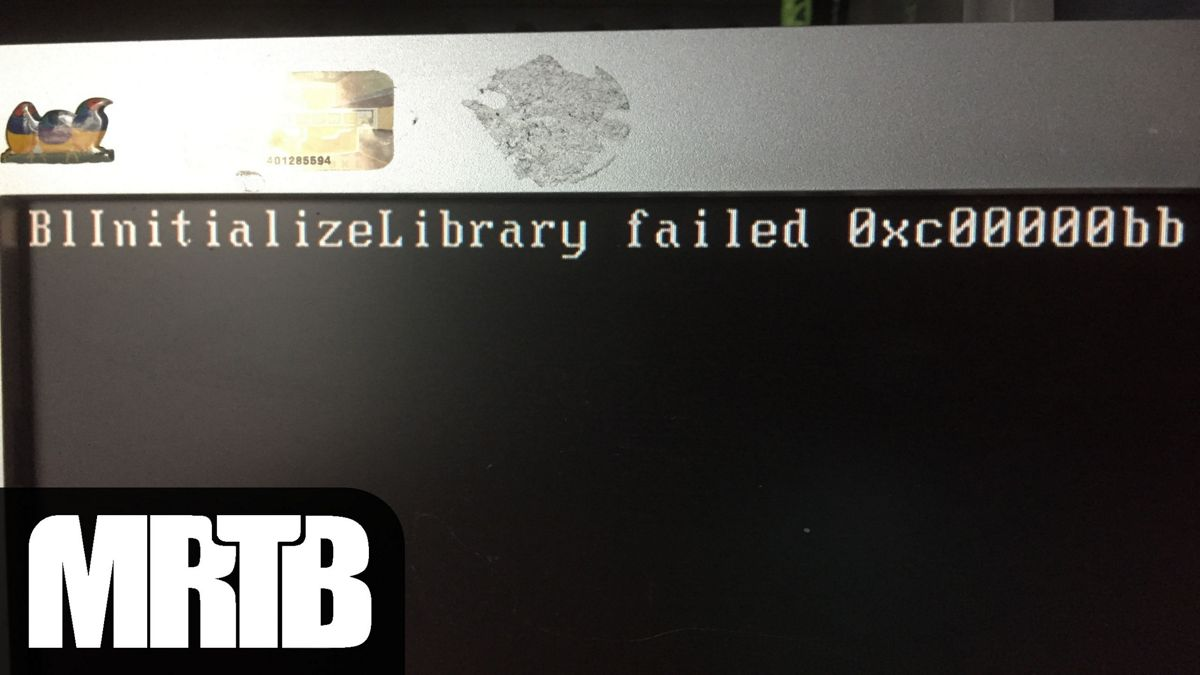 B1InitializeLibrary Failed 0xc00000bb error fix cover