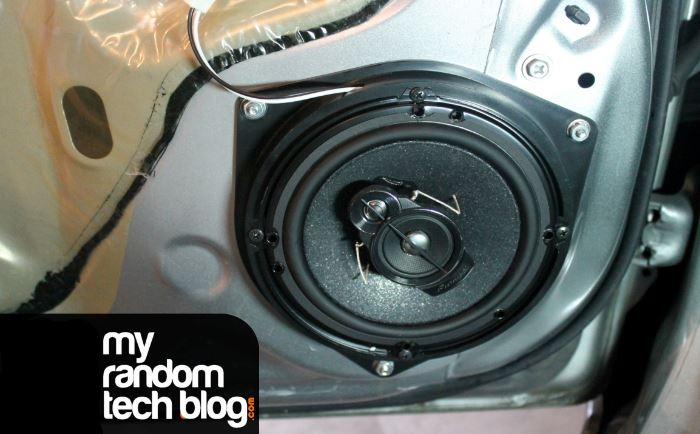 Installing Pioneer TSA1676R 6.5″ speakers in Toyota Yaris and review.