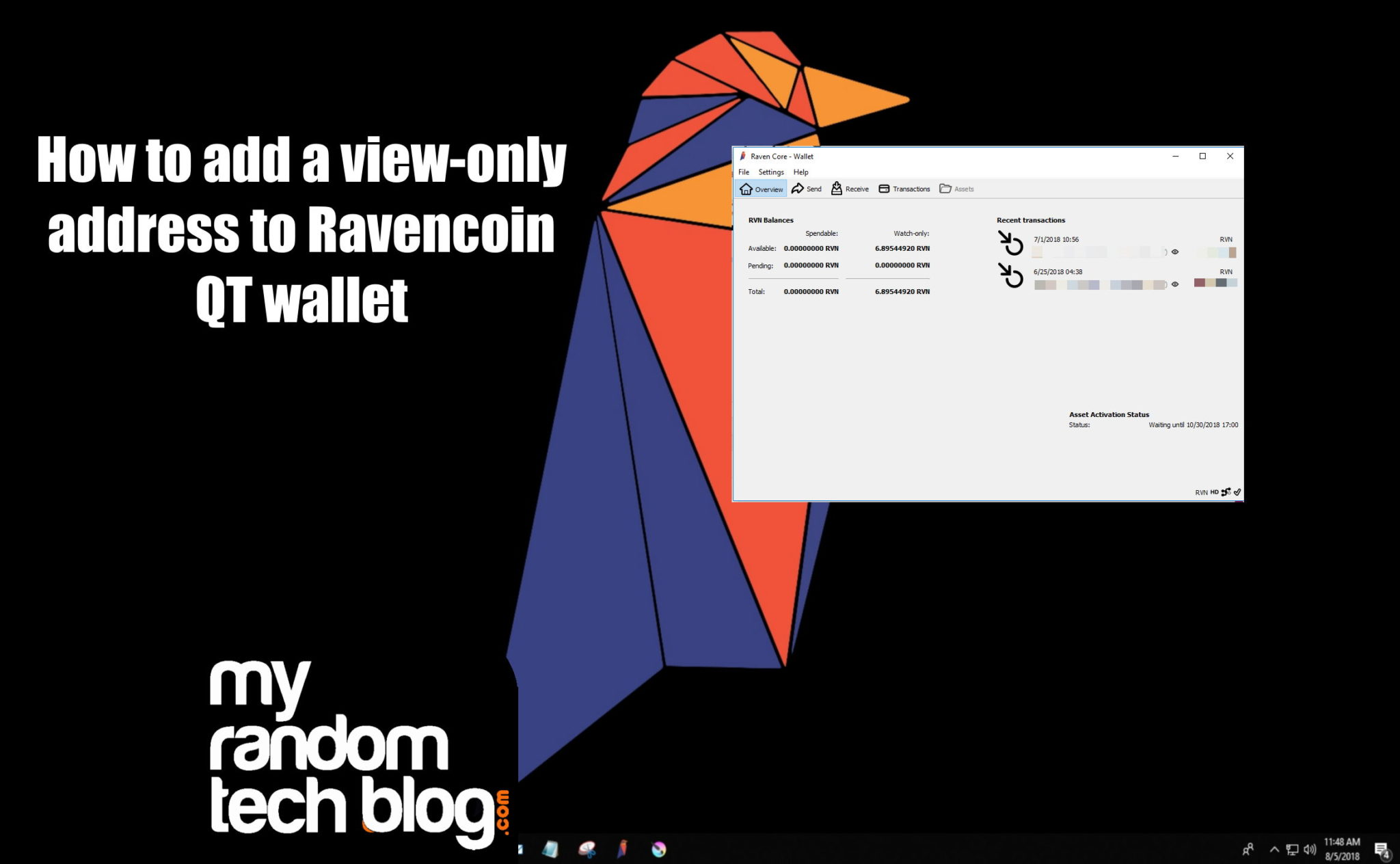 How to add a view only address to Ravencoin QT wallet.