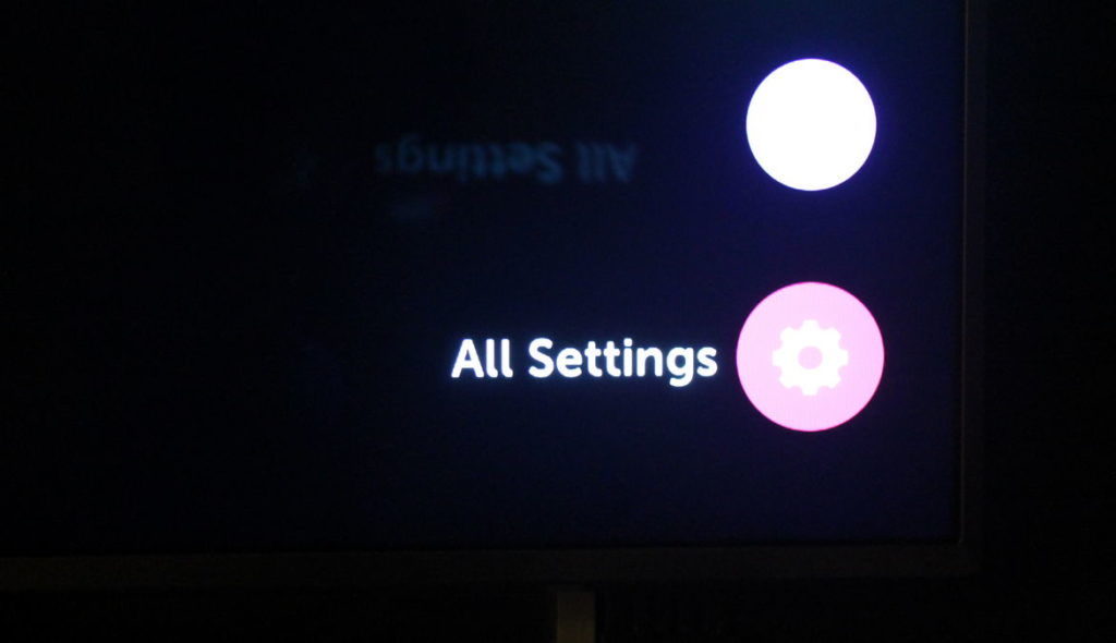 LG TV all settings menu option for LG vertical light band fix