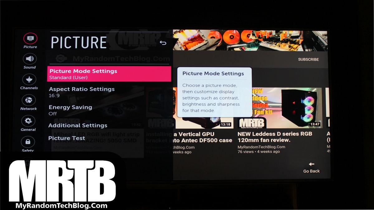 LG 70UK65 Picture mode settings fix - Soap Opera