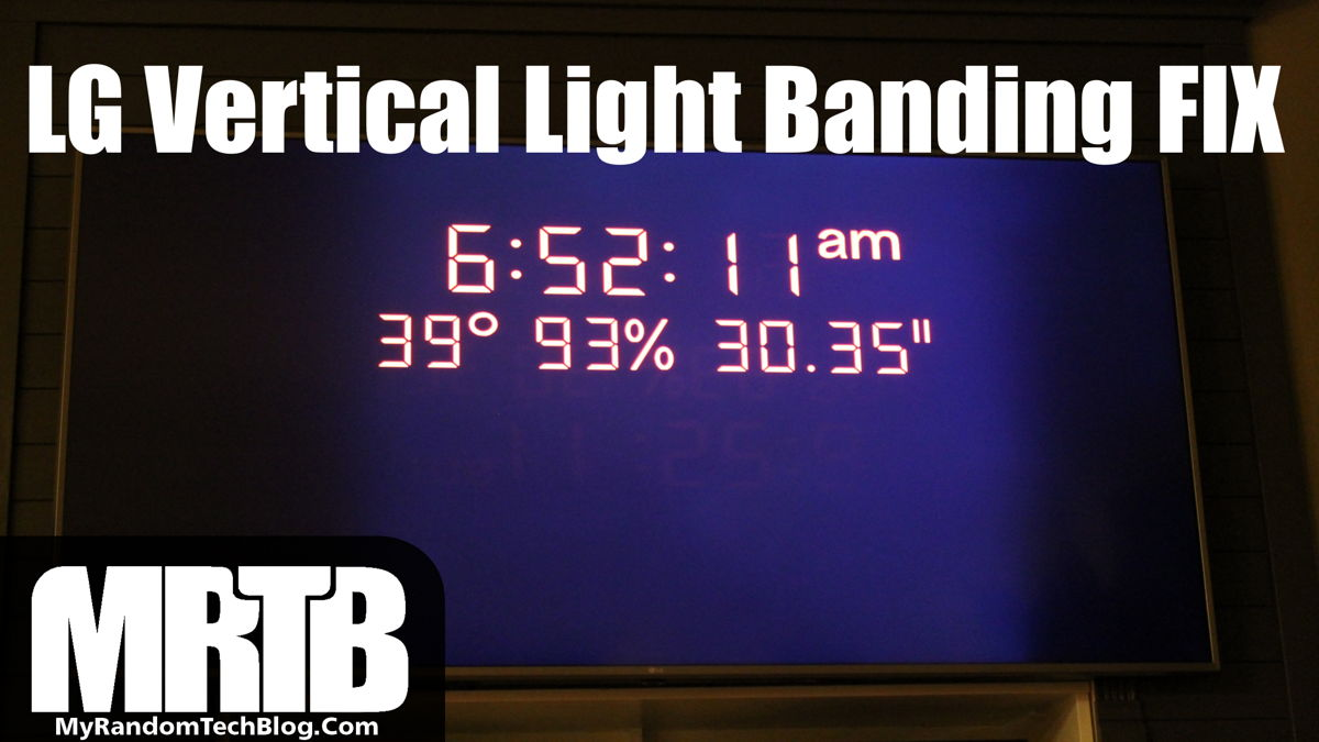 LG Vertical Light banding FIX 70UK65