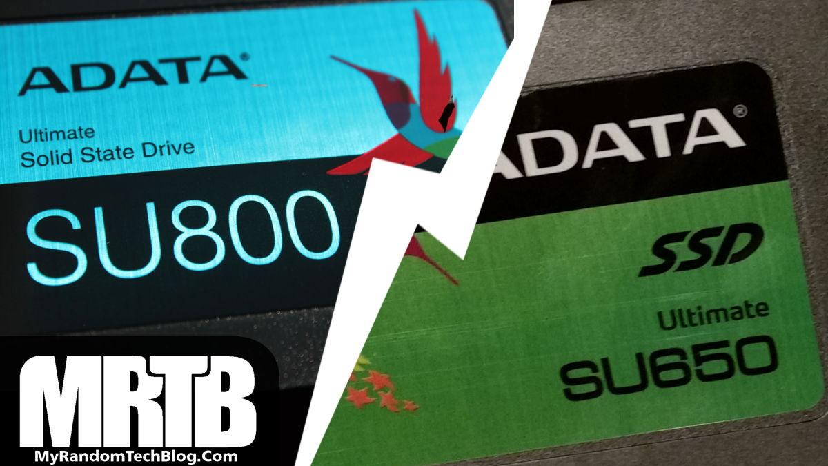 SU650 vs SU800 – ADATA SSD's