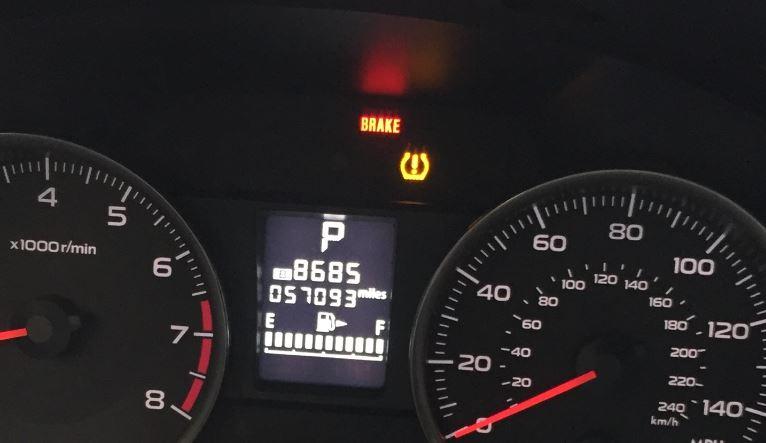 Subaru TPMS light will not clear