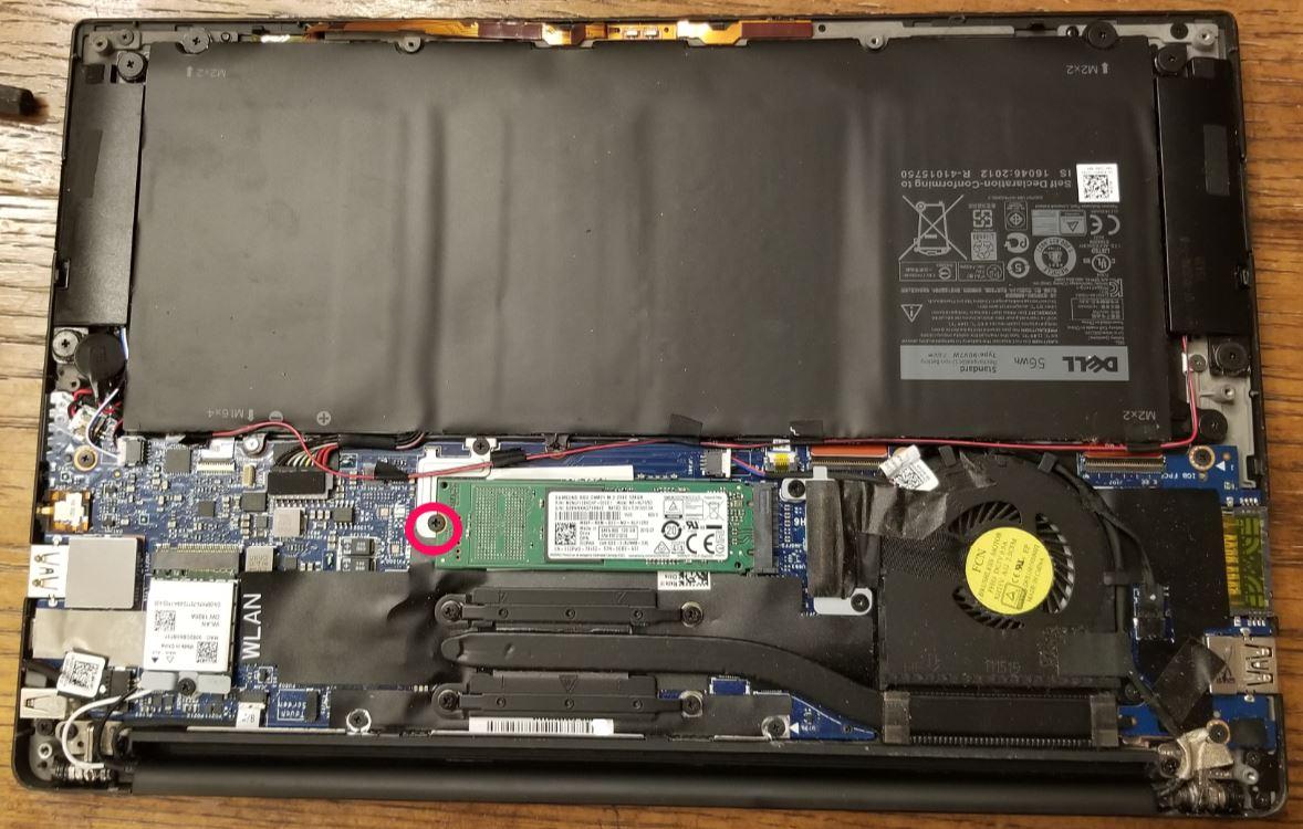 Inside dell XPS 13 9350