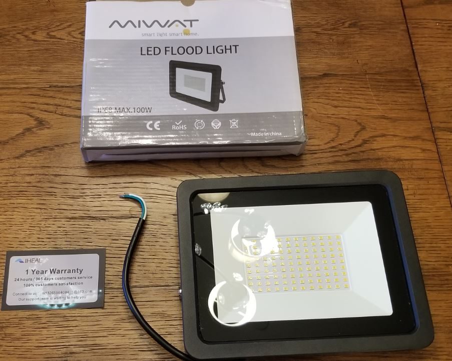 miwat LED floodlight unboxing