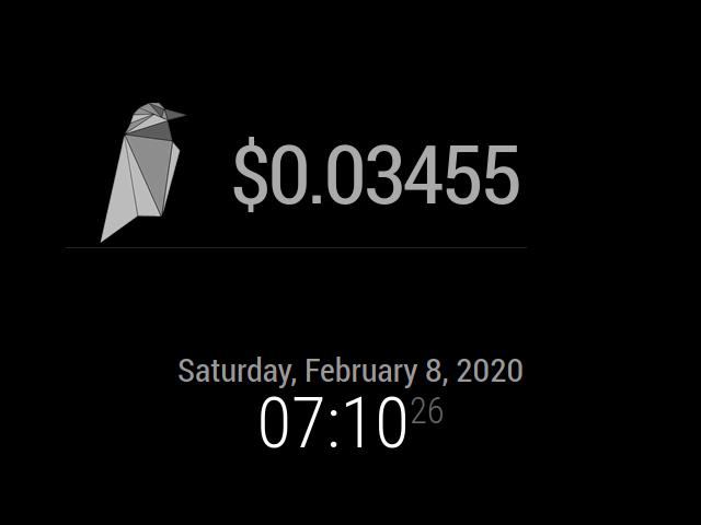Raevencoin Clock image display