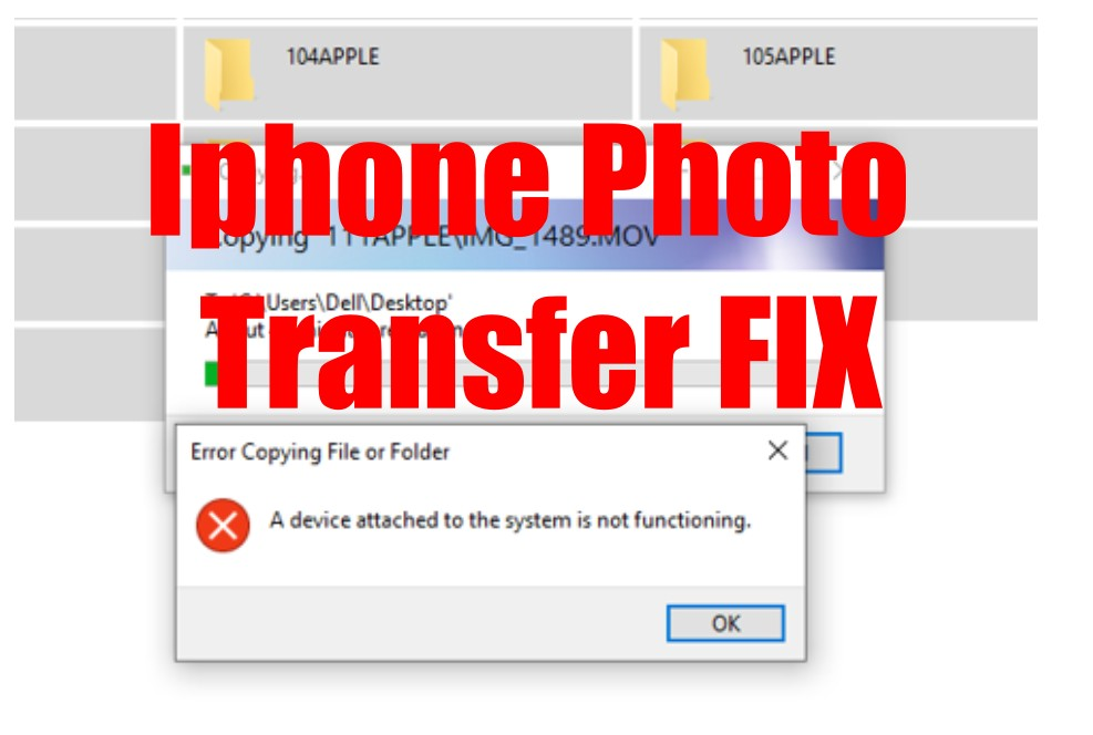 iphone 11 error fix for freeze during photo transfer