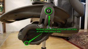 Aeron Seat removal