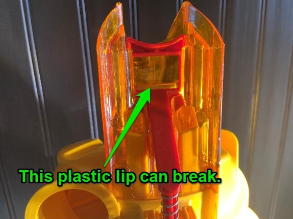 Dyson canister lip break