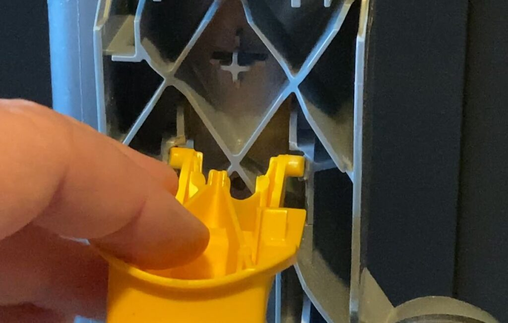Reason my Dyson canister wont latch. It had broken plastic on hinges.