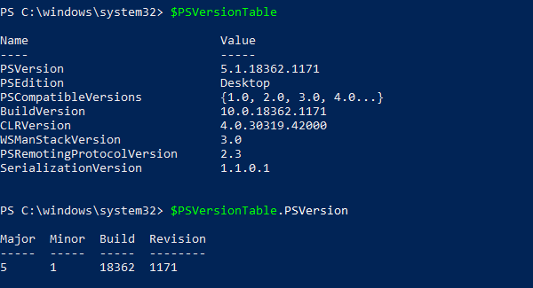 How to find Powershell version